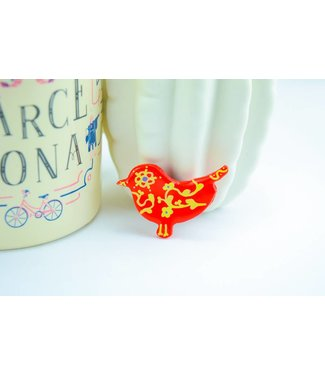 "Cute Clay ""Red Bird"" - Magnet"
