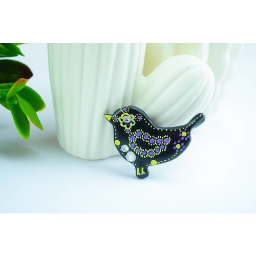 "Cute Clay ""Black Bird Nr. 2"" - Magnet"