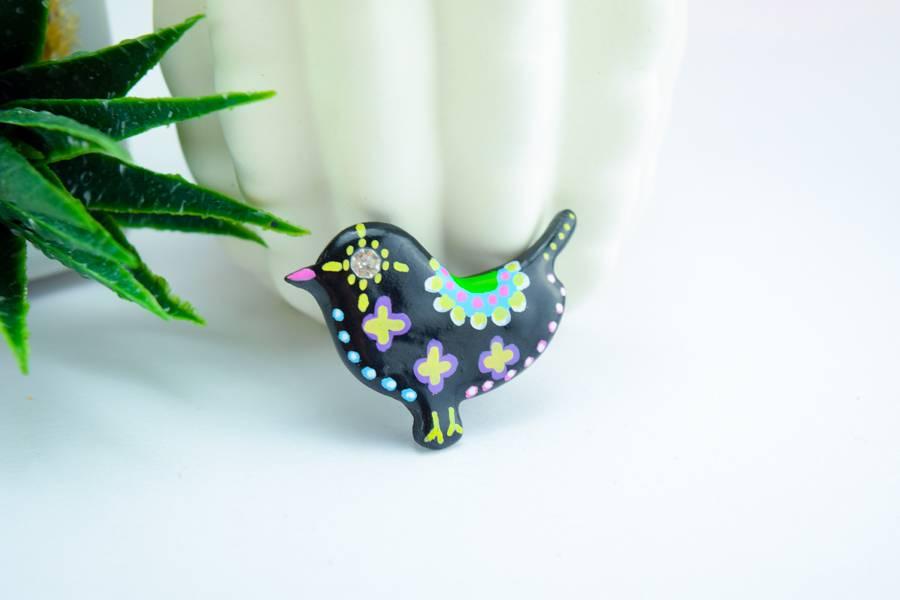 "Cute Clay ""Black Bird Nr. 3"" - Magnet"