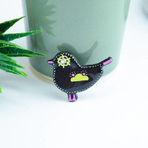 "Cute Clay ""Black Bird Nr. 6"" - Magnet"