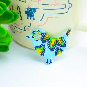 "Cute Clay ""Pastell-Vögelchen II"" - Magnet"