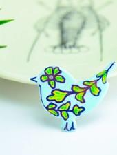 """Cute Clay """"Pastell-Vögelchen V"""" - Magnet"""