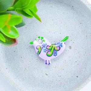 "Cute Clay ""Pastell-Vögelchen VI"" - Magnet"