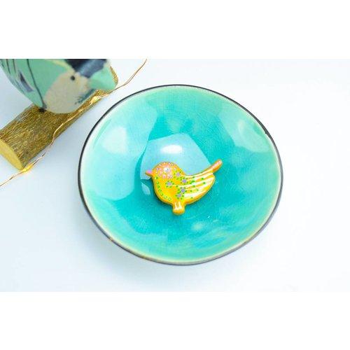 """Cute Clay """"Gold Bird Nr. 3"""" - Magnet"""