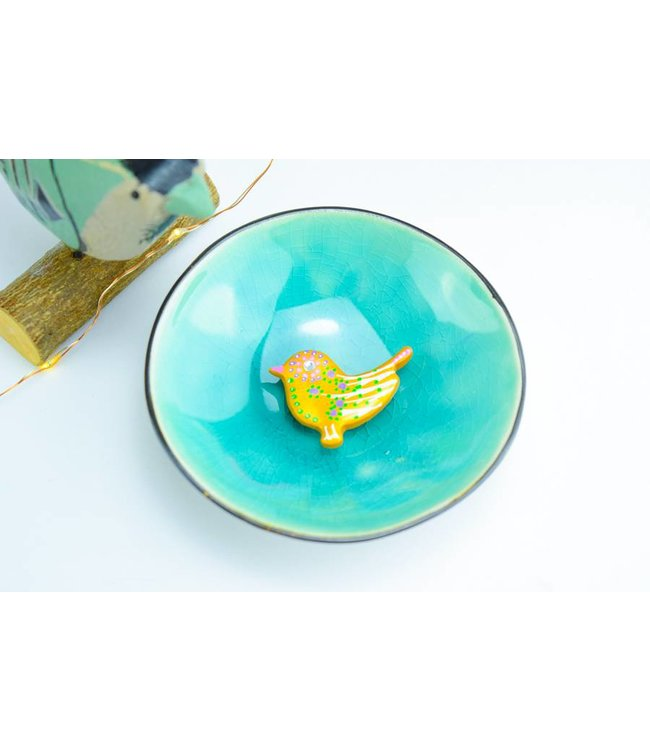 "Cute Clay ""Gold Bird Nr. 3"" - Magnet"