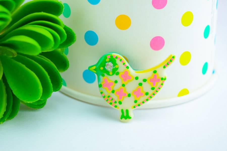 """Cute Clay """"Nachtleuchtender Vogel Nr. 1"""" - Magnet"""
