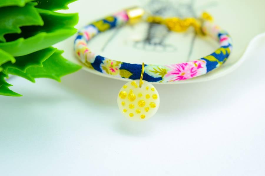"Cute Clay ""Gold Dots"" - Armband"