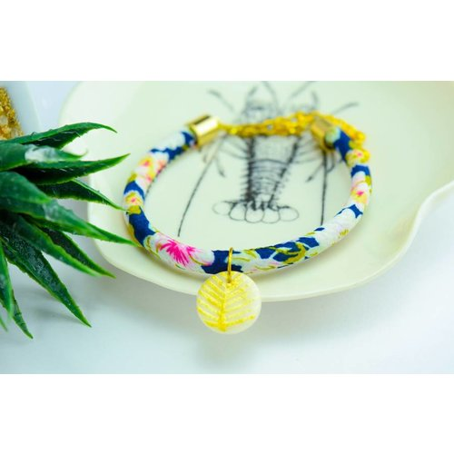 "Cute Clay ""Gold Leave"" - Armband"