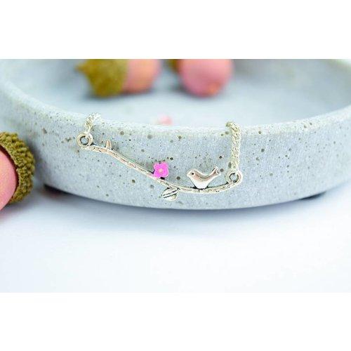 """Cute Clay """"Vögelchen auf dem Ast""""-Armband"""