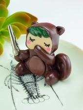 """Cute Clay """"Oops im Eichhörnchenkostüm""""-Notizständer"""