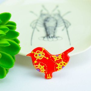 "Cute Clay ""Red Bird I"" - Magnet"