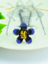 "Cute Clay ""Purple Flower""-Ring"