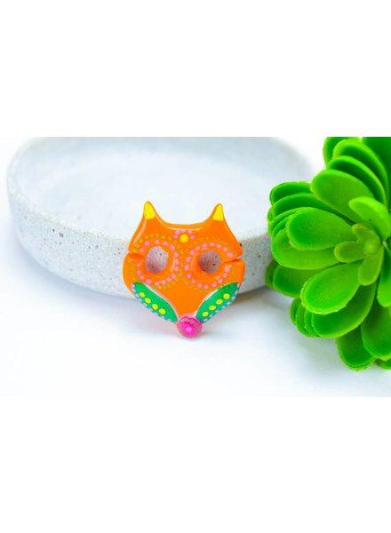 """Cute Clay """"Orange Fox"""" - Brosche"""