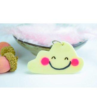 """Cute Clay """"Happy Wölkchen"""" - Schlüsselanhänger"""