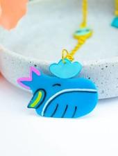 """Cute Clay """"Der blaue Wal""""-Kette"""