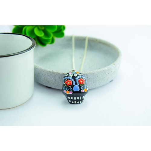 "Cute Clay ""Black Mexican Skull I""-Kette"