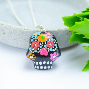 "Cute Clay ""Black Mexican Skull II""-Kette"