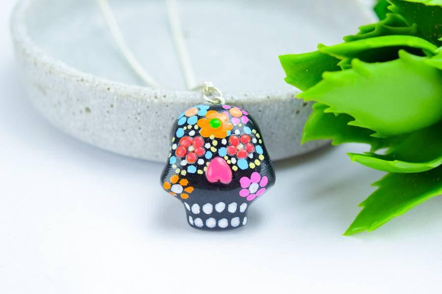 "Cute Clay ""Black Mexican Skull II""-Kette"