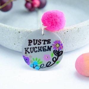 """Cute Clay """"Pustekuchen"""" - Spruch-Kette"""