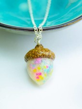 "Cute Clay ""Colorful Acorn"" - Kette"