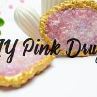 DIY Pink Druzy I Kristalle aus Meersalz und Fimo