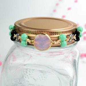 """Cute Clay """"Peach & Gold Pink""""-Armband"""
