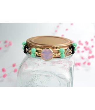 """Cute Clay """"Peach & Gold Pink"""" - Armband"""