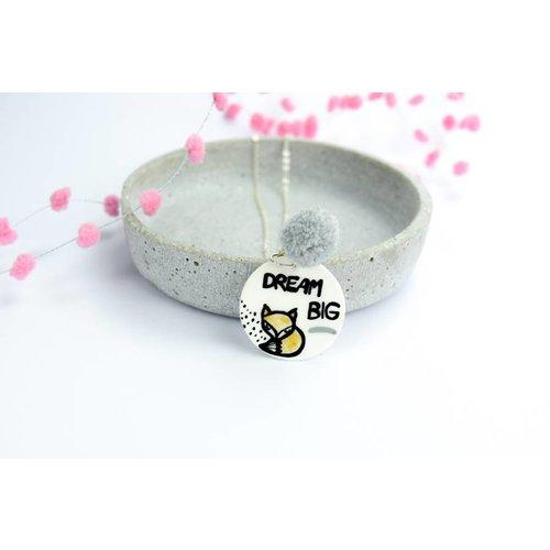 """Cute Clay """"Dream Big"""" - Fuchs-Kette"""