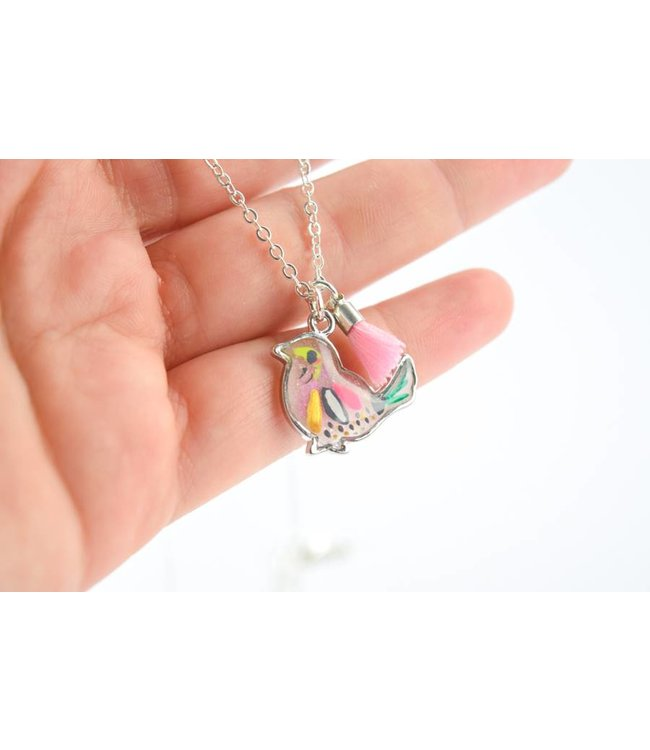 "Cute Clay ""Boho Bird"" - Vogel-Kette"