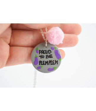 "Cute Clay ""Proud to be plemplem"" - Spruch-Kette"