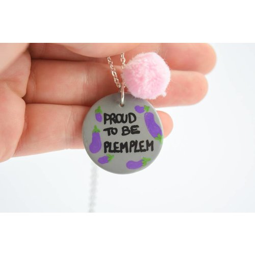 """Cute Clay """"Proud to be plemplem"""" - Spruch-Kette"""