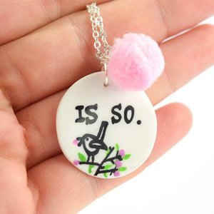 "Cute Clay ""Is so"" - Spruch-Kette"