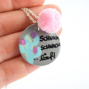 """Cute Clay """"Schnick Schnack läuft"""" - Spruch-Kette"""