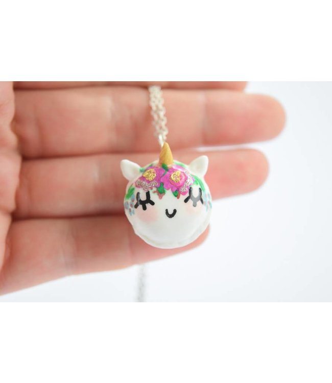 "Cute Clay ""Unicorn-Macaron"" - Kette"