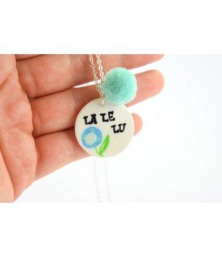 "Cute Clay ""La Le Lu"" - Spruch-Kette"