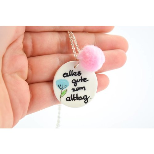"Cute Clay ""Alles Gute zum Alltag"" - Spruch-Kette"