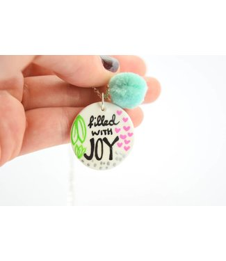 """Cute Clay """"Filled with Joy"""" - Spruch-Kette"""