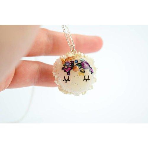 "Cute Clay ""Miscellaneously-Einhorn-Macaron"" - Kette"