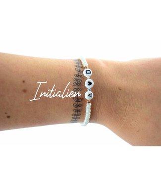 """Cute Clay """"Deine Initialen von dir und?"""" - Armband"""