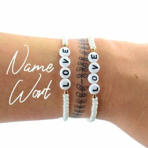 """Cute Clay """"Dein Wunschname oder Wort"""" - Armband"""