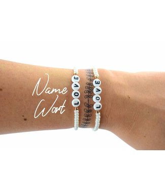 "Cute Clay ""Dein Wunschname oder Wort"" - Armband"