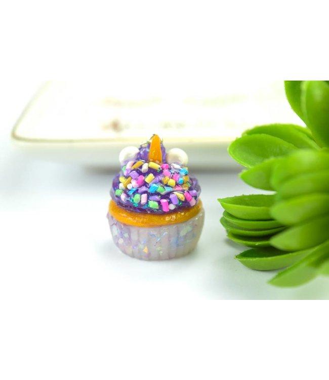 """Cute Clay """"Thermal Farbwechsler Einhorn-Cupcake"""" - Kette"""
