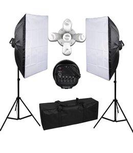 10 lampen Fotostudio Fotografie Set 50x70 softbox continulicht studiolicht daglicht