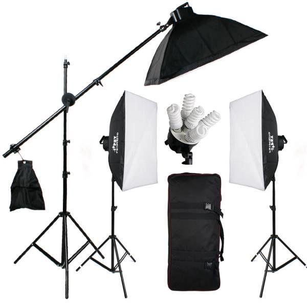 15 lampen Fotostudio Fotografie Set 50x70 softbox continulicht daglicht galgstatief