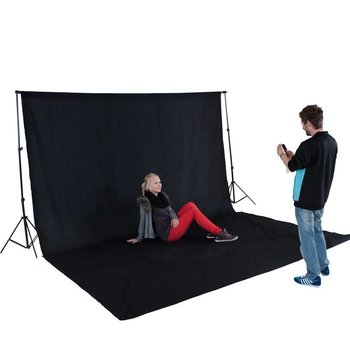 XXL Fotodoek / achtergrond voor fotostudio met satieven