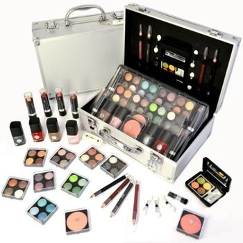 50 delig make up set met koffer - makeup case - beautycase