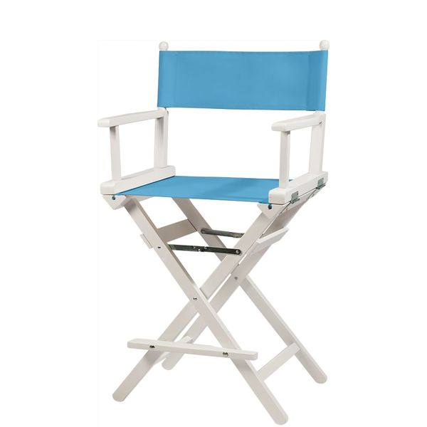 Professionele make up stoel - visagie - regisseurstoel - Regisseursstoel -Lichtblauw- ACTIE