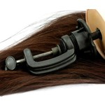 Kappershoofd oefenhoofd 85 % echt lang haar bruin