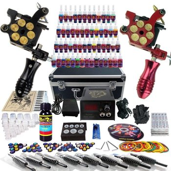 Tattoo set - Compleet - Tattoo kit - 2 gun's - 54 inks