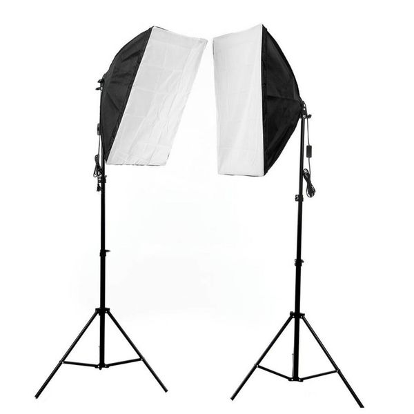 Fotostudio set - Achtergrondsysteem - 5 kleuren met Softbox + Reflectoren